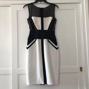 Bcbgmaxazria black white dress